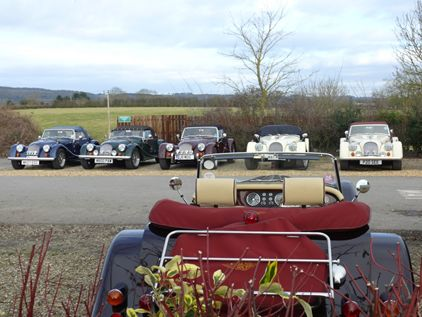 Our traditional Morgan Line-Up!