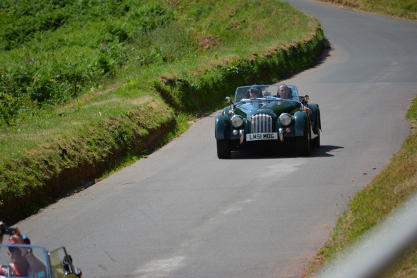 Chris and Co-Driver Paul achieved an impressive time up the hill.